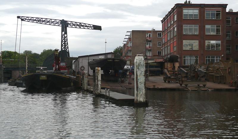 A small shipyard.