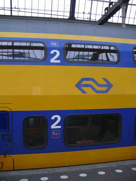 Double decker train.