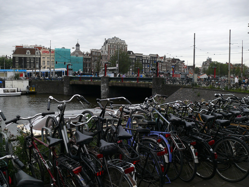 Bikes parked outside Centraal.