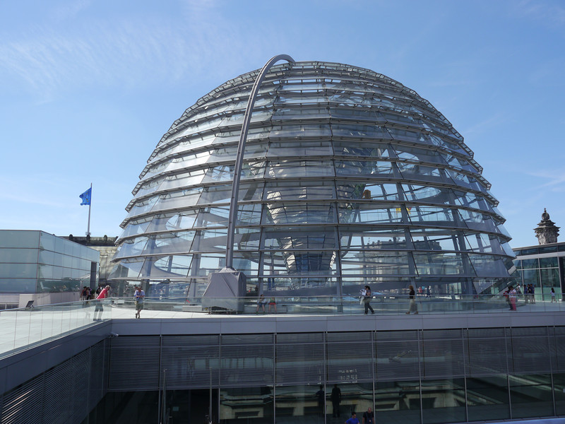 Glass dome on the roof of the Reichstag.
