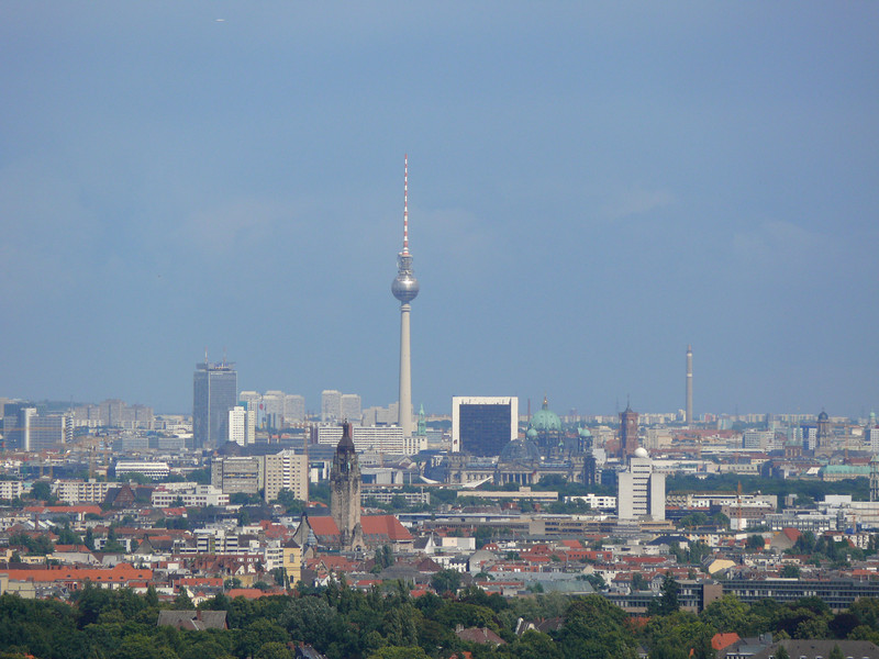 View of the city of Berlin from the Bell Tower.