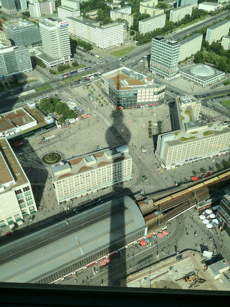 View of Alexander Platz from TV Tower.