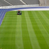 Olympic Stadium grass cutting.