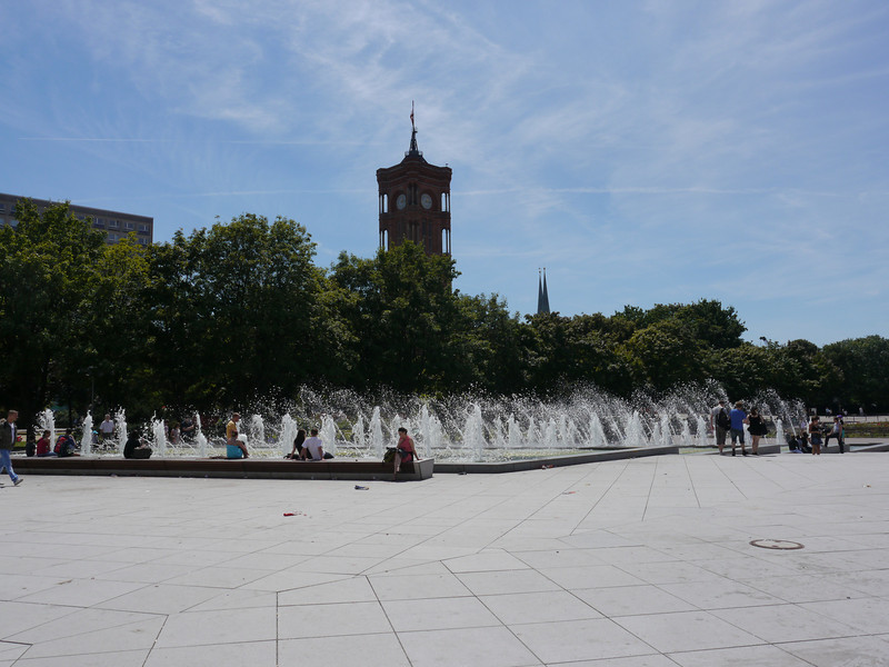 Fountain outside the TV Tower.
