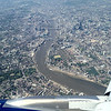 Flying over London city centre.
