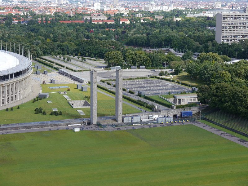 View of Olympic Stadium and the city of Berlin from the Bell Tower.