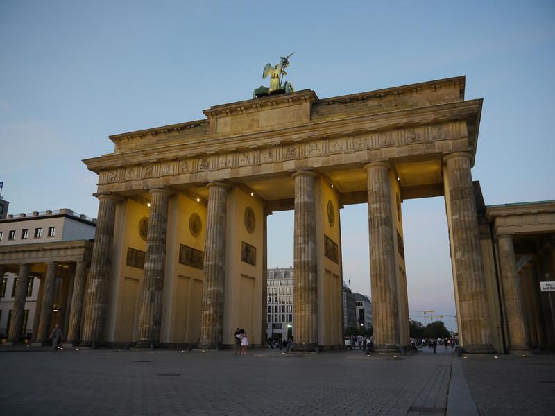 Brandenburg Gate by night.