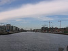 Looking down the River Liffey into the heart of Dublin.