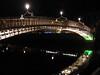 Dublin at night.<br /> Ha'penny Bridge.