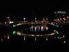Dublin at night.<br /> Looking down the Liffey towards the Ha'penny Bridge.