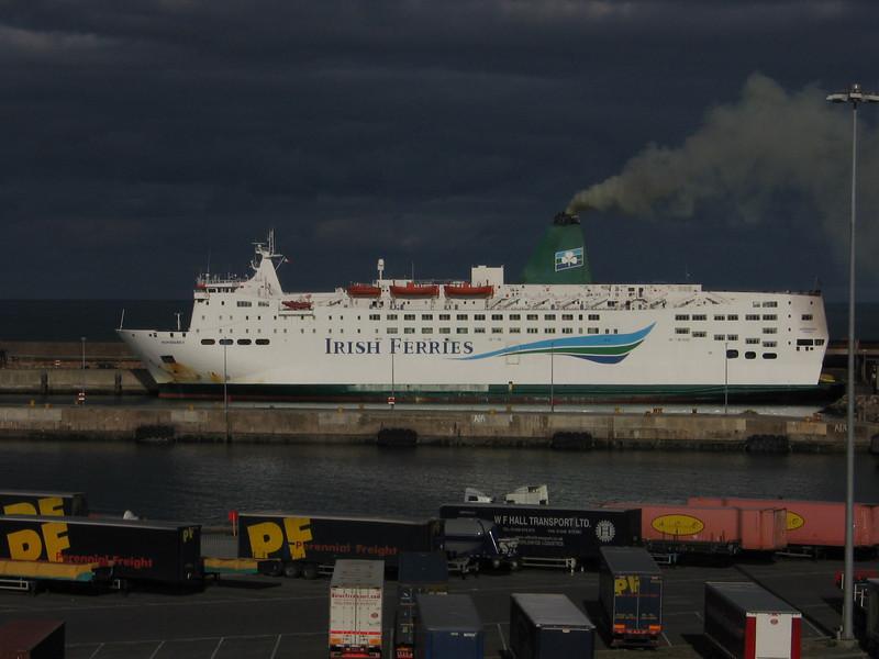 Irish Ferries' NORMANDY at Rosslare.