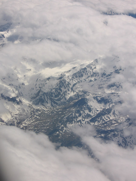 The Alps from the air.