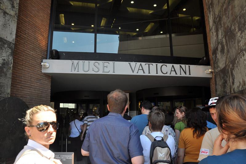 Entering the Vatican Museum