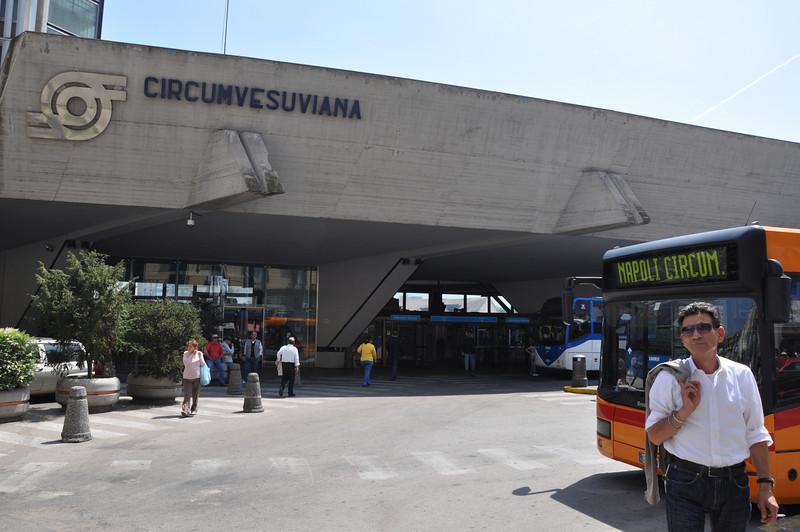 The Circumvesuviana railway line delivered us into the centre of Naples