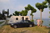 Camping Ideal Molino on the banks of Lake Garda. Probably the best caravan pitch of the entire trip