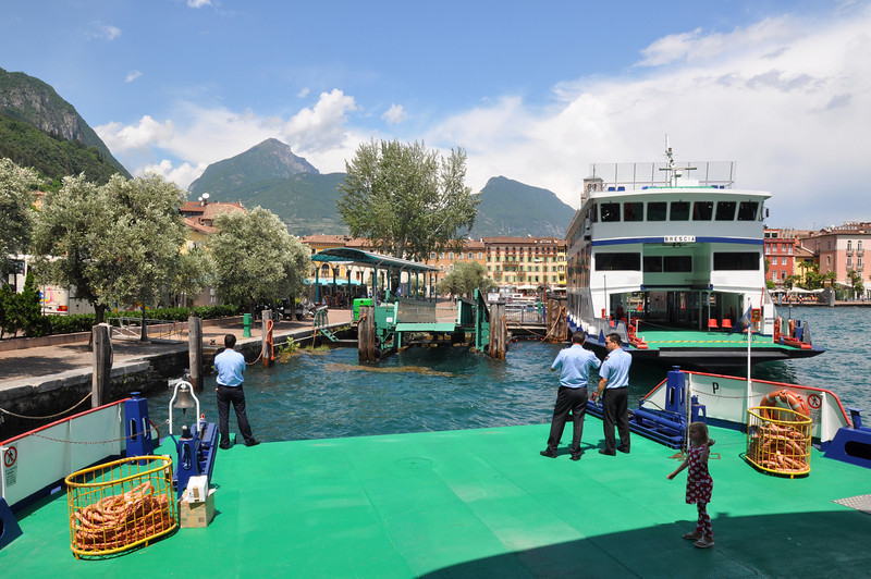 Lake Garda. The Tonale arriving in Riva from Malcesne