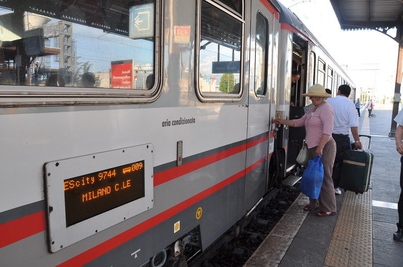 Catching the Milano Express from Verona to Desenzano