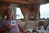 Ian's on his 62nd birthday with Sheila's special Scottish card bought on the train from Fort William to Mallaig earlier in the year
