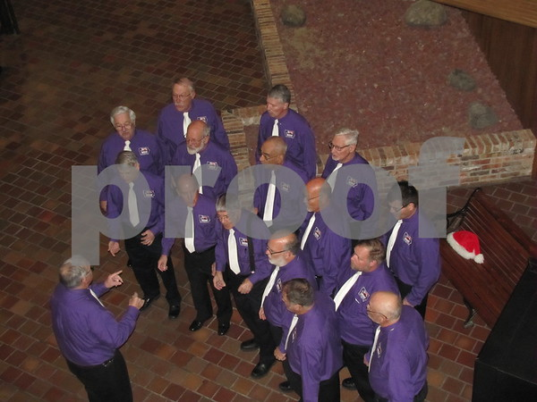 Harmony Brigade entertained with songs of the season.