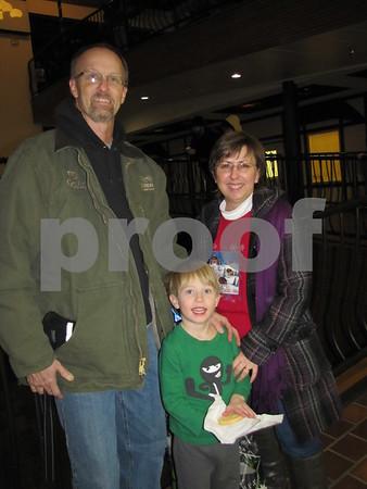 Donn and RaeLynn Larson and son Erik enjoy the festivities.