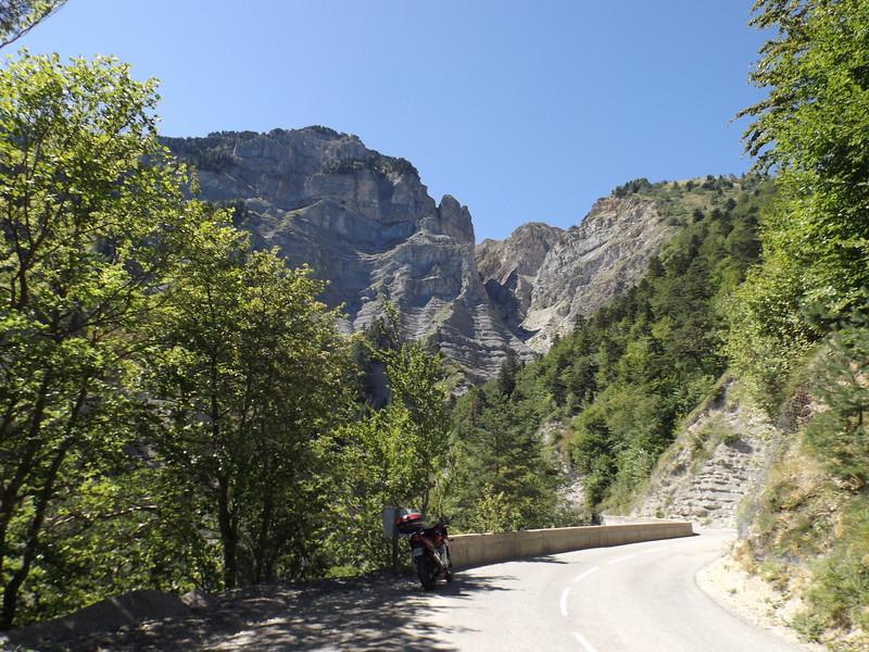 D 7 dans la montée du Col de la MENEE