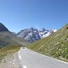 Massif des Ecrins dans la descente du Col du GALIBIER