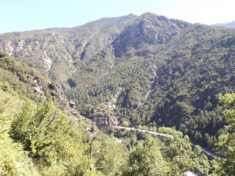 D 2205 dans les Gorges de VALABRES