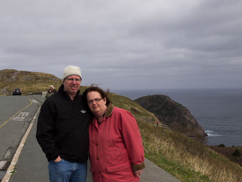 Janice and I atop Signal Hill. Think this was our last day in Newfoundland. Thank you to all our family who made this such a special trip.