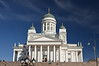 Helsinki Cathedral is the Finnish Evangelical Lutheran cathedral of the Diocese of Helsinki, located in the neighborhood of Kruununhaka in the center of Helsinki, Finland. Wikipedia