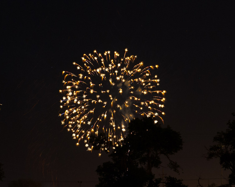 Fireworks from Lubbock, 7-4-2013