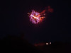 Fireworks over Castle in Bernkastel-Kues during winefest