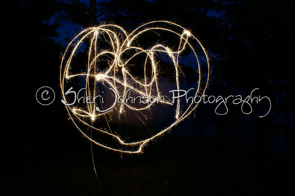 I spelled my name and outlined it with a heart :)