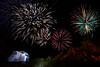 Fireworks over Joshua Tree