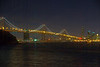 Downtown San Francisco and Bay Bridge on Christmas