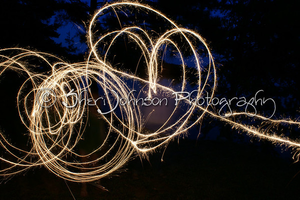 all 3 of us doing the sparkler thing :)