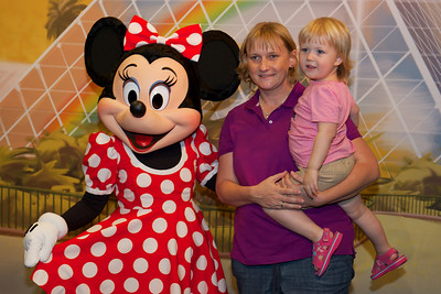 Posing with Minnie