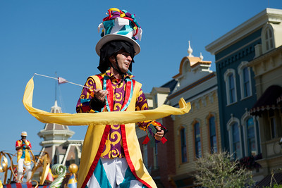 Stilted performer