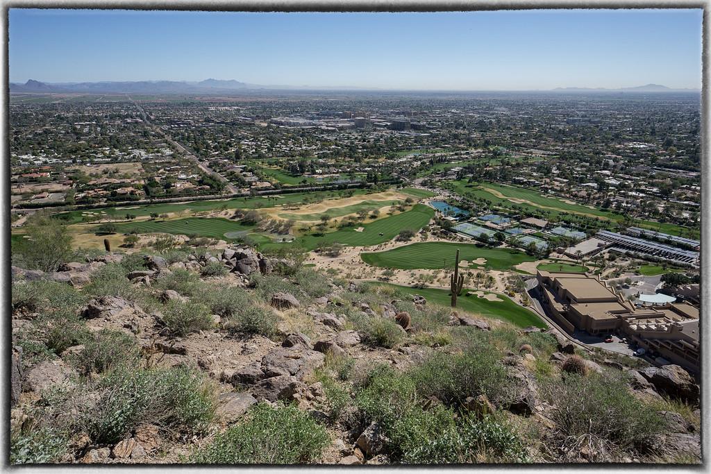 Phoenician Golf Course Below