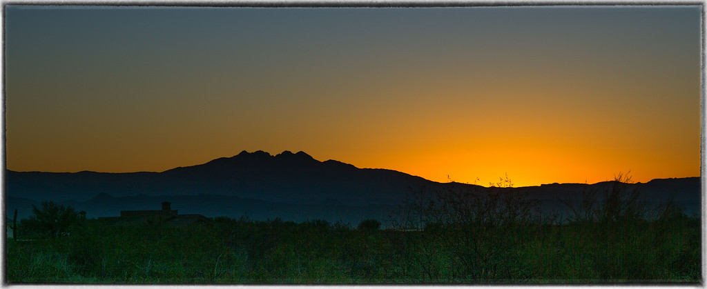 The Four Peaks at Sunrise