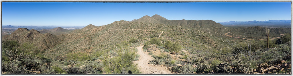 Sunrise Trail Straight Ahead and Then Veers to the Left