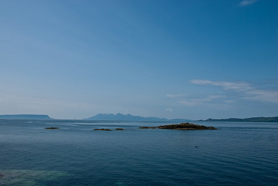 Looking towards Isles Eigg and Rum from Mallaig