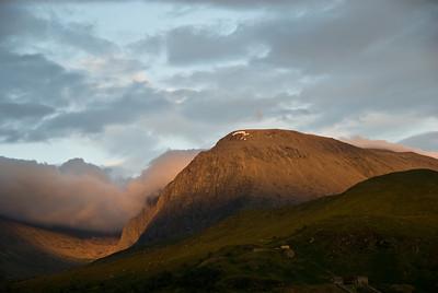 Sunset on Ben Nevis