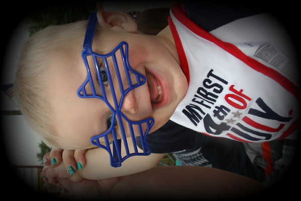 Mason Vandergrift, grandson of Patti Safford of Anderson, Ind., enjoying the Chesterfield parade.<br /> <br /> Photographer's Name: Patti Safford<br /> Photographer's City and State: Anderson, Ind.