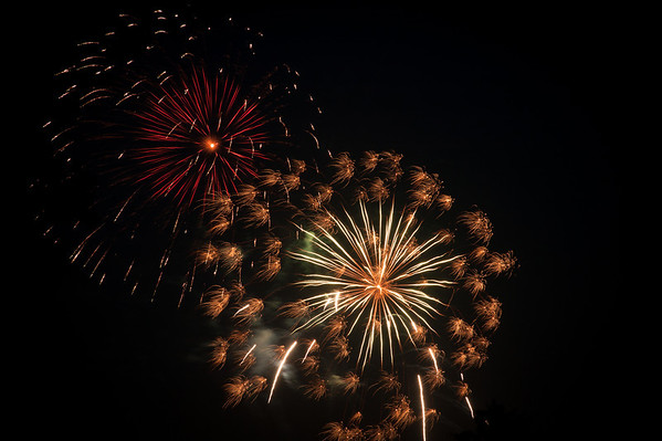 Some fireworks at the Edge on July 3.<br /> <br /> Photographer's Name: Terry Lynn Ayers<br /> Photographer's City and State: Anderson, Ind.