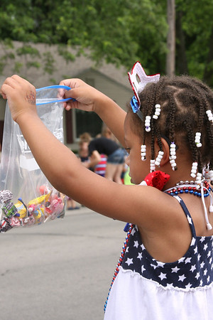 Madison Johnson, granddaughter of Patti Safford of Anderson, Ind., at the Chesterfield parade<br /> <br /> Photographer's Name: Patti Safford<br /> Photographer's City and State: Anderson, Ind.