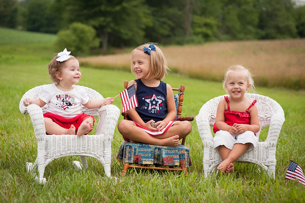 The granddaughters paitiently waiting for the fireworks to start. Aislynn Ayers, Evelynn Fox, and Kambria Fox.<br /> <br /> Photographer's Name: Terry Lynn Ayers<br /> Photographer's City and State: Anderson, Ind.