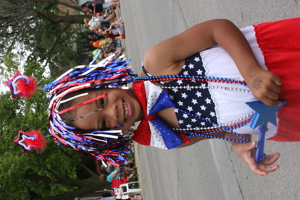 Madison Johnson, granddaughter of Patti Safford of Anderson, Ind., enjoying the Chesterfield parade.<br /> <br /> Photographer's Name: Patti Safford<br /> Photographer's City and State: Anderson, Ind.
