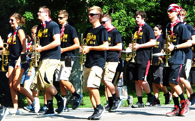 Debbie Blank | The Herald-Tribune The Milan High School Band provided live music. Their casual outfits were perfect for the sweltering heat with bandanas giving a nod to the holiday.
