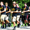 Debbie Blank | The Herald-Tribune<br /> The Milan High School Band provided live music. Their casual outfits were perfect for the sweltering heat with bandanas giving a nod to the holiday.
