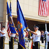 Debbie Blank | The Herald-Tribune<br /> The Batesville Veterans of Foreign Wars Honor Guard presented flags to open the 11 a.m. VFW Day ceremony.